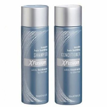XFusion Keratinized Hair Building Shampoo 8.4oz and Conditioner 8.4oz Duo