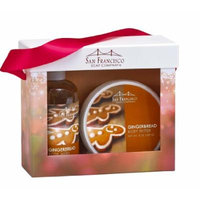San Francisco Soap Company Holiday Body Wash & Body Butter Gift Set (Gingerbread)