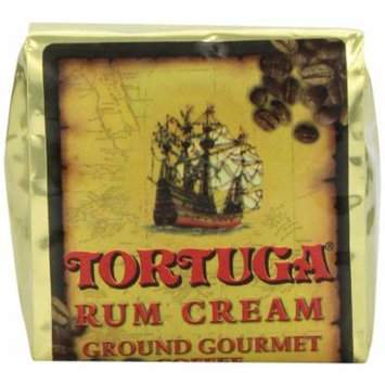 Tortuga Rum Cream Gourmet Ground Coffee, 8 Ounce Bag