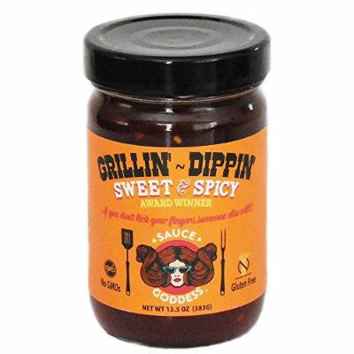 Sauce Goddess Grill Glaze, Sweet and Spicy, 54 Ounce (Pack of 4)