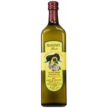 Massimo Gusto Extra Virgin Avocado Oil with Garlic, 1 Liter 2-Pack