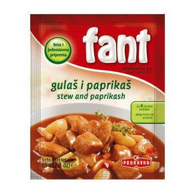 Podravka Fant Seasoning for Stew Ans Paprikash Meat 3-pack (3x65g/3x2.3oz)