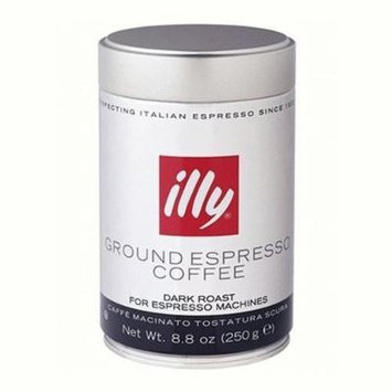 Illy Scuro Espresso Grind Dark Roast Coffee, Black Band, 6 Count