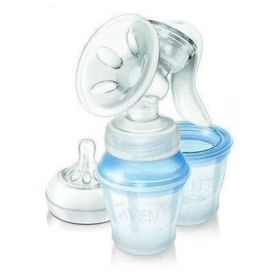 Philips Avent Natural Comfort Manual Breast Pump with 3 Storage Cups Scf330/12