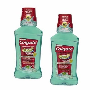 (2 Pack) Colgate Total Advanced Pro-Shield Mouthwash, Spearmint Surge, 8.4 Oz. ea.