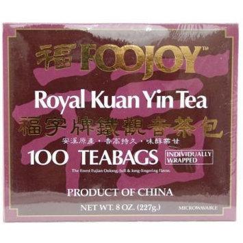 FooJoy Tie Guan Yin Tea - 100 Individually Wrapped Tea Bags (7.0 Oz)