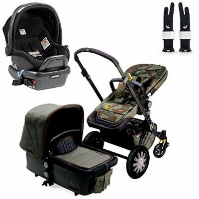 Bugaboo Cameleon3 Complete Stroller - Diesel Camouflage w Peg Perego Primo Viaggio 4/35 Car Seat (Onyx)