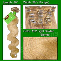 Pro Extensions Hair Extensions #22 Medium Blonde - 20 inch Body Wave
