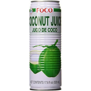 Foco Coconut Juice, 17.6-Ounce (Pack of12)
