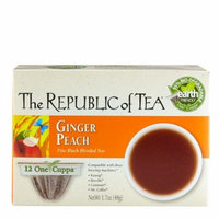 The Republic Of Tea One Cuppa Single Serve Cups, Ginger Peach Black Tea, 24 Count, 95% Biodegradable
