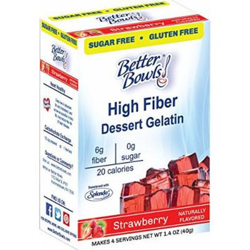 Better Bowls Sugar Free, Strawberry Gelatin, 1.4 Ounce (Pack of 6)