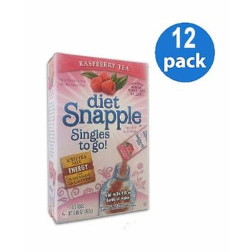 Diet SNAPPLE RASPBERRY TEA Soft Drink Mix 6 Sticks In Each Box (12 Pack) GL