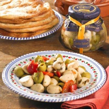 Coquet Ensalada Gourmet Sweet White Garlic with Olives, Peppers and Capers (5.29 oz/150 g drained weight)