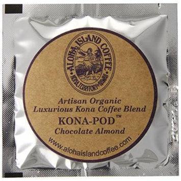 Aloha Island Coffee Chocolate Almond Kona Blend Organic Coffee Pods, 18 Pods, 18-Count