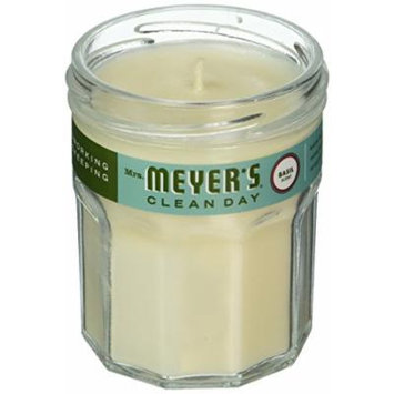 MRS MEYERS Clean Day Scented Soy Candle Basil, Small, 4.9 Ounce