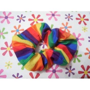 Rainbow Ponytail Holder Wrap Hair Scrunchie by Serina's Bow Tiq