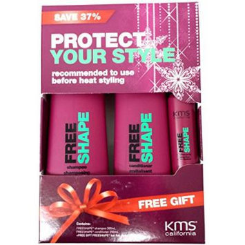 KMS Holiday Duo FREESHAPE Shampoo / Conditioner + Hot Flex Spray Sample