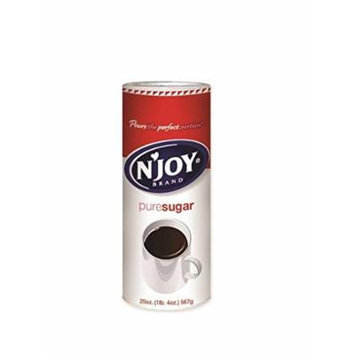 N'joy Sugar Canisters, 20 Ounce (Pack of 6)