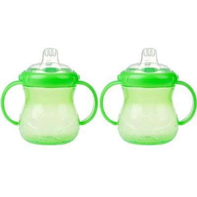 Nuby 10 oz No-Spill Cup with Soft Spout, 2 Pack - Green