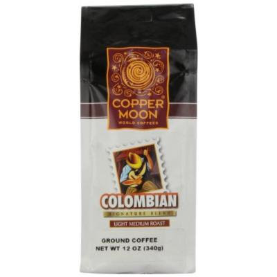 Copper Moon Colombian Coffee, Light Medium Roast, Ground, 12-Ounce Bags (Pack of 3)