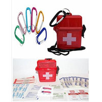 Water Proof Mini First Aid Kit with Carabiner - Multiple Styles to Choose From (ASSORTED SNAP)