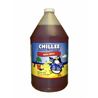 Chillee Snow Cone Syrup, Cherry, 128 Ounce (pack of 4)