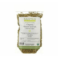 Banyan Botanicals Fennel Whole - Certified Organic, 1/2 lb - Foeniculum vulgare - Aromatic spice that supports healthy digestion