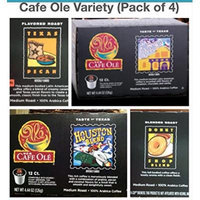 H.E.B Cafe Ole Variety k-cup SAN ANTONIO; HOUSTON; TEXAS PECAN & DONUT SHOP 12 cts (Pack of 4)