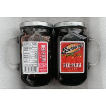 Blackburn's Red Plum Jelly in Reusable Glass Cups (2 Pack)