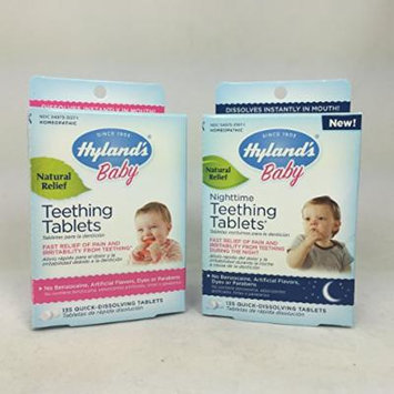 Hyland's Baby Teething Tablets (135 Ct) and Hyland's Baby Nighttime Teething Tablets (135 Ct) Combo Pack