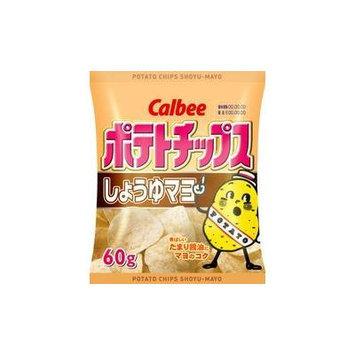 Potato Chips Shoyu (Soy Sauce) & Mayo (Mayonnaise) By Calbee From Japan 60g