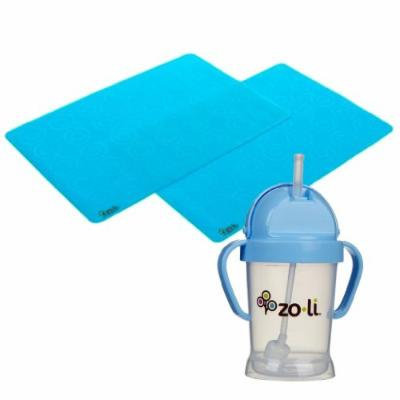 Zoli Matties Placemat (2 Pack) with Bot Sippy Cup, Blue