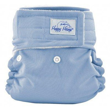 Happy Heinys ONE for ALL One Size Cloth Diaper with Hook & Loop Closure + 2 Microfiber Inserts (Periwinkle)
