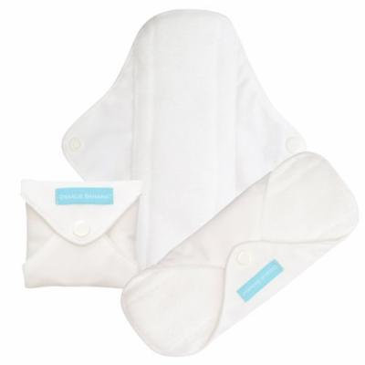 Charlie Banana Washable Reusable Feminine Menstrual Pads - Regular (White)