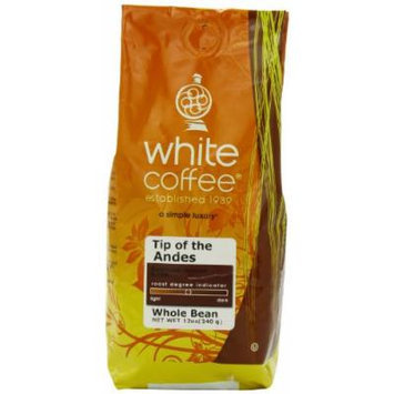 White Coffee Tip of the Andes Whole Bean Coffee, 12 Ounce