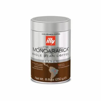Illy Monoarabica Whole Bean, Single Origin Brazil, 8.8 Ounce (Pack of 6)