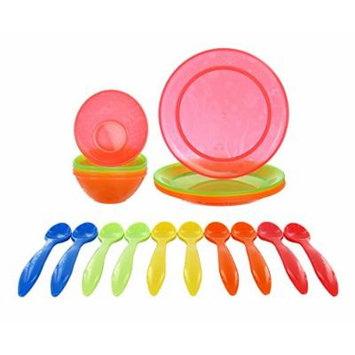 Munchkin Multi Bowls & Plates with BONUS Infant Feeding Spoons
