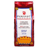 Puroast Low Acid Coffee Vanilla Natural Decaf Ground, 12 oz. Bag (Pack of 2)