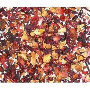 Strawberry + Tropical Fruit Hibiscus Herbal Tea Loose Leaf Tea 4 Oz Caffeine Free