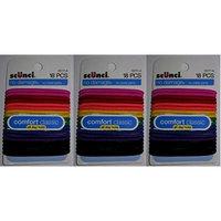 Scunci Effortless Beauty Large No-damage Carribean Elastics, 4mm, 54-Count