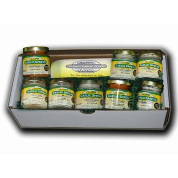 Chez Jane Garlic Spread Variety (One of Each Flavor), 64-Ounces (Pack of 8)