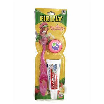 Firefly Strawberry Shortcake Pink Soft Bristle Toothbrush Kit