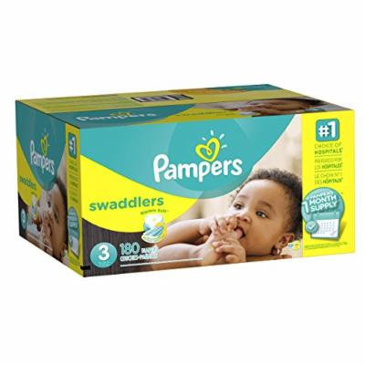 Pampers Swaddlers Diapers, Size 3, One Month Supply, 180 Count (Packaging May Vary)