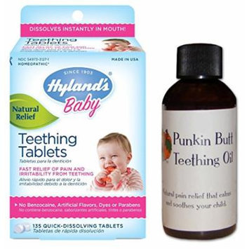 Hyland's 250 Count Homeopathic Teething Tablets & Teething Oil