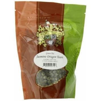 English Tea Store Loose Leaf, Jasmine Dragon Tears Green Tea Pouches, 4 Ounce