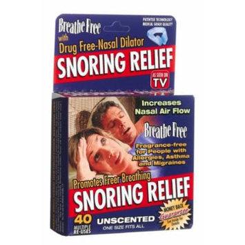 Breathe Free Snoring Relief Drug-Free Nasal Dilator, Unscented (Pack of 2)