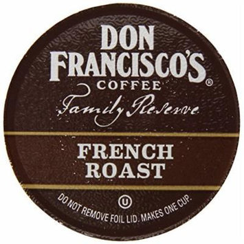Don Francisco Family Reserve Single Serve Coffee, French Roast, 12 Count, (Packaging May vary)