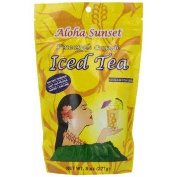 Aloha Sunset Tea Aloha Sunset Pineapple Orange Iced Tea , 8-Ounce Bags (Pack of 6)