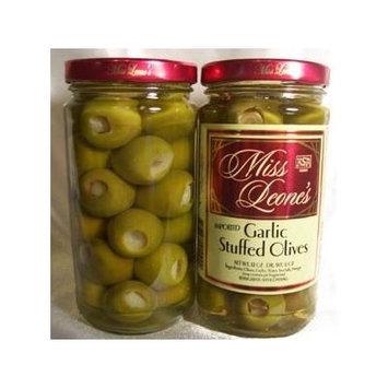 Garlic Stuffed Gourmet Queen Spanish Olives 12 oz. Jar