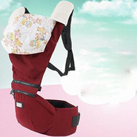 Beddinginn® Red Color Super Comfortable Cotton Baby Carrier with Hood and Baby Hip Seat